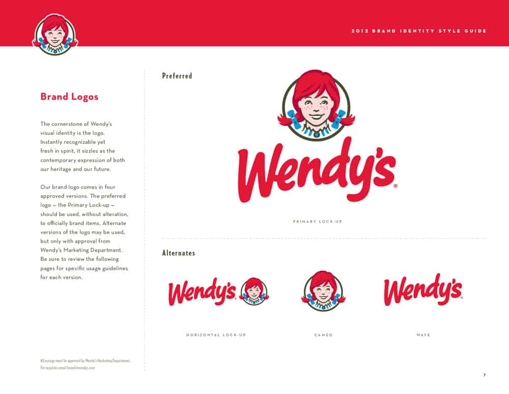 Wendy's logo variations