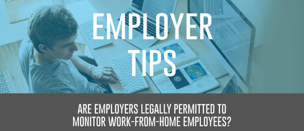 Employer Monitoring WFH Employees Header