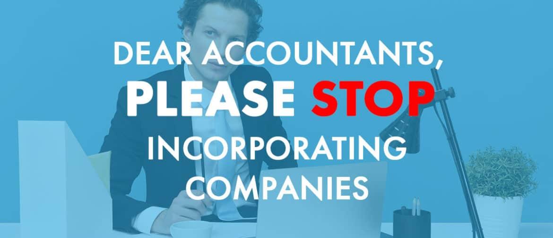 Accountants stop incorporating companies
